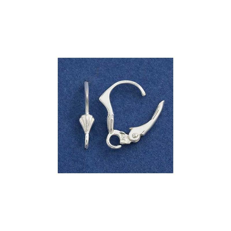 Серебрянная (Стерлинг) основа для серёжки с кольцом 15X10MM