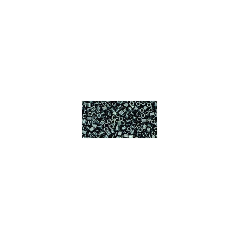 TC-01-81 Metallic Hematite 1.5mm TOHO cube beads