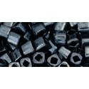 TC-04-81 Metallic Hematite 4mm TOHO cube beads