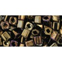 TC-04-83 Metallic Iris Brown 4mm TOHO cube beads