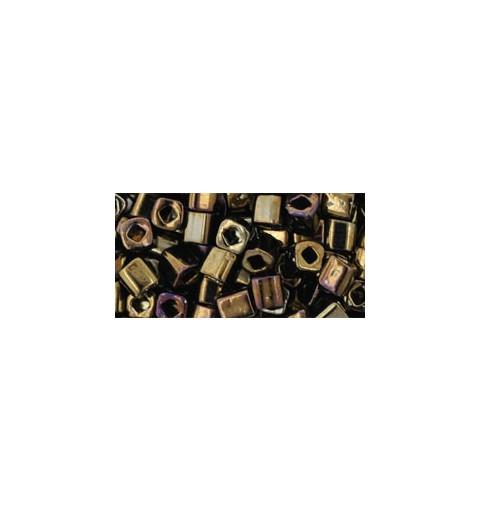TC-04-83 Metallic Iris Brown 4mm TOHO cube beads