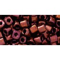 TC-04-222 Bronze Dark Bronze 4mm TOHO cube beads