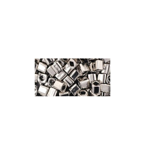 TC-04-711 Nickel 4mm TOHO cube beads