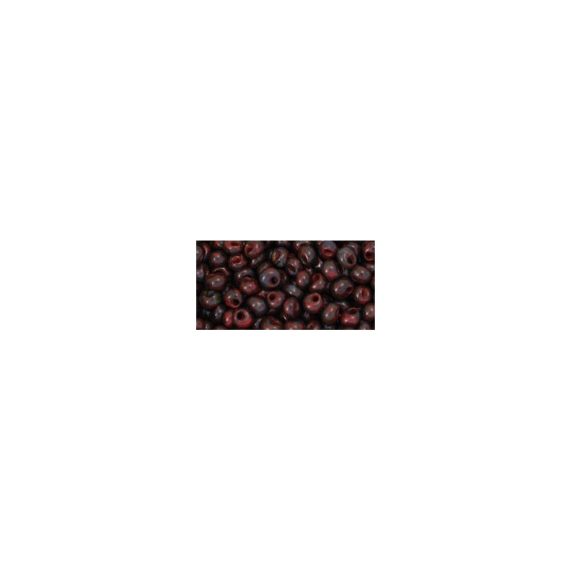 TM-03-Y304 HYBRID Pepper Red Picasso 3MM TOHO beads