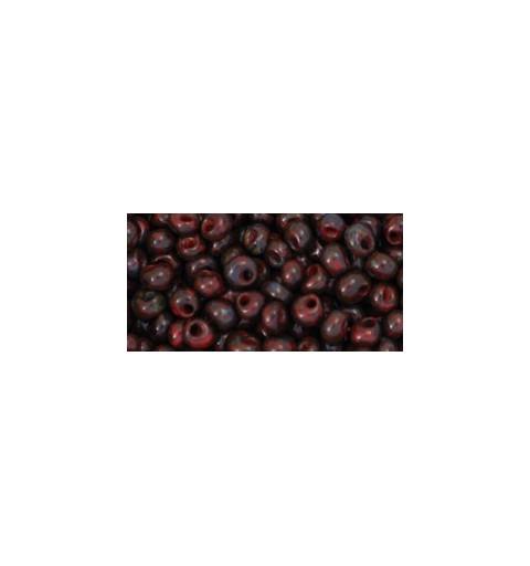 TM-03-Y304 HYBRID Pepper Red Picasso 3MM TOHO beads
