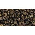 TM-03-Y306 HYBRID Lt Beige Picasso 3MM TOHO beads