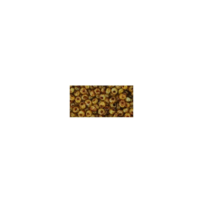 TM-03-Y308 HYBRID Opal Picasso 3MM TOHO beads