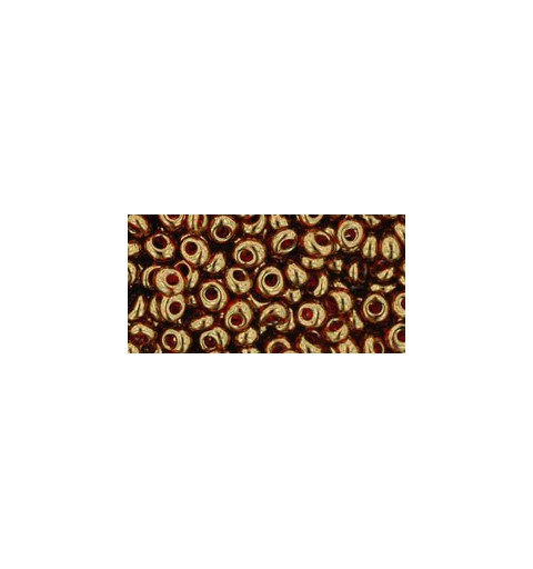 TM-03-329 Gold-Lustered African Sunset 3MM TOHO beads