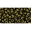TM-03-422 Gold-Lustered Dark Chocolate Bronze 3MM TOHO beads