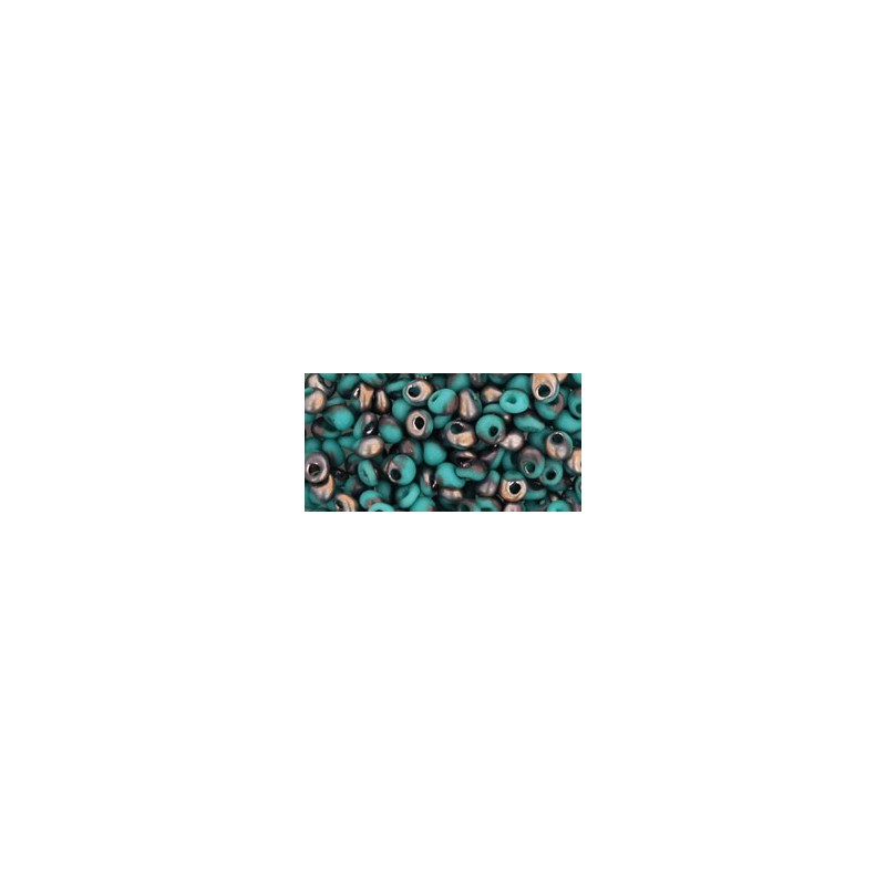 TM-03-Y857F HYBRID Frosted Turquoise Apollo 3MM TOHO beads