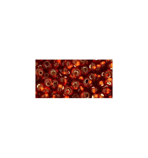 TM-03-2208 Silver-Lined Burnt Orange 3MM TOHO beads