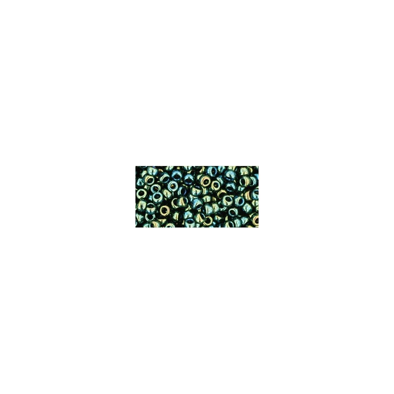 TR-08-84 Metallic Iris Green/Brown Seed Beads