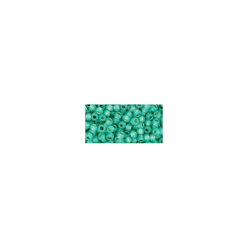 TR-08-2119 Silver-Lined Milky Dark Peridot