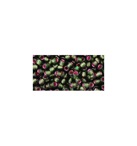 TR-08-2204 Silver-Lined Frosted Olivine- Pink Lined