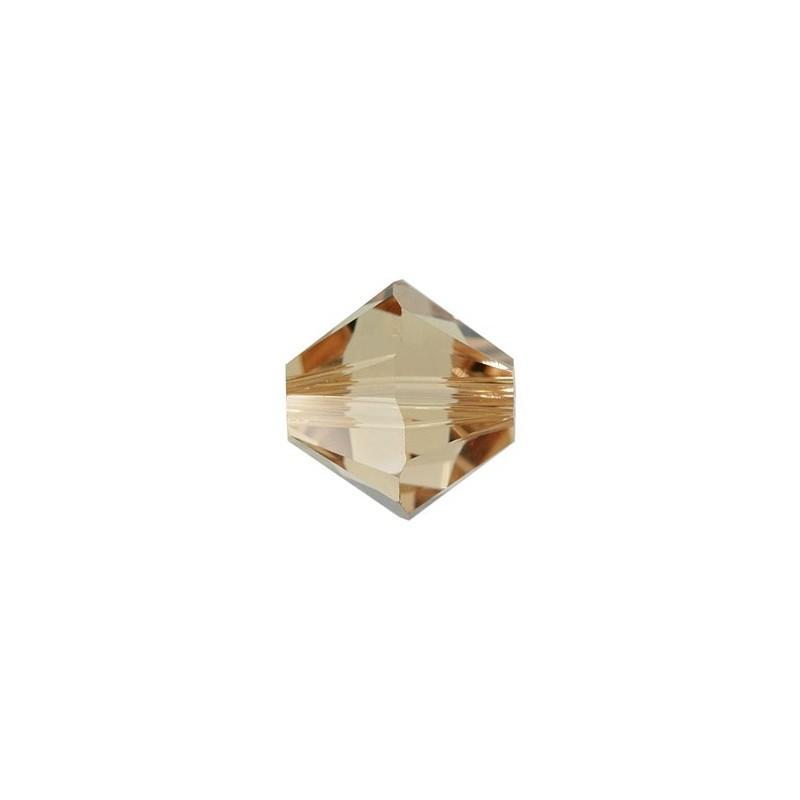 3MM Light Colorado Topaz (246) 5328 XILION Bi-Cone Helmed SWAROVSKI ELEMENTS