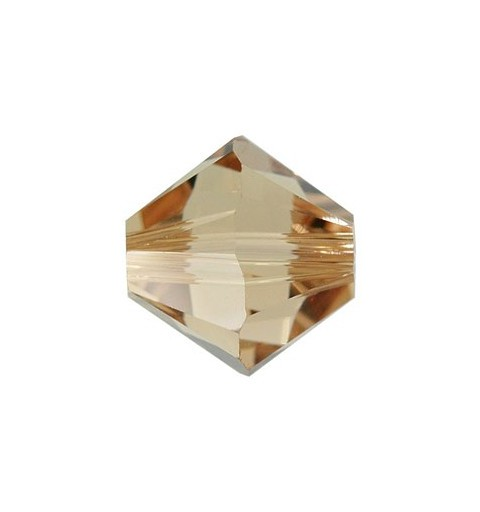 4MM Light Colorado Topaz (246) 5328 XILION Bi-Cone Beads SWAROVSKI ELEMENTS
