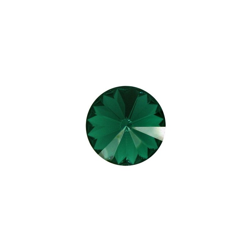 18MM Emerald F (205) 1122 Rivoli Chaton SWAROVSKI ELEMENTS