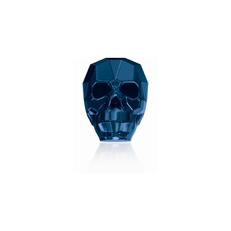 13MM Crystal Metallic Blue 2x 5750 Skull Helmed SWAROVSKI ELEMENTS
