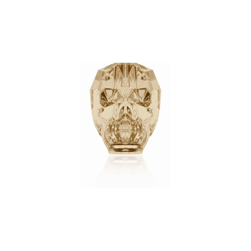13MM Crystal Golden Shadow 5750 череп Бусины SWAROVSKI ELEMENTS