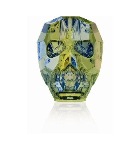 13MM Crystal Iridescent Green 5750 Skull Beads SWAROVSKI ELEMENTS