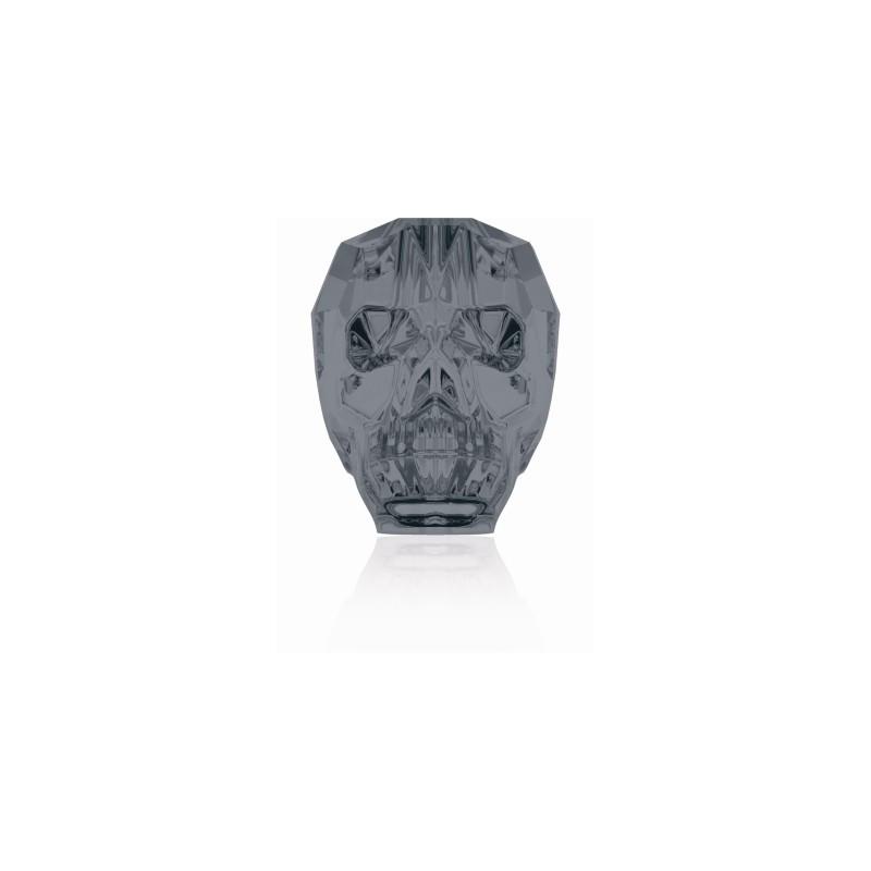 13MM Crystal Silver Night 2x 5750 Skull Beads SWAROVSKI ELEMENTS