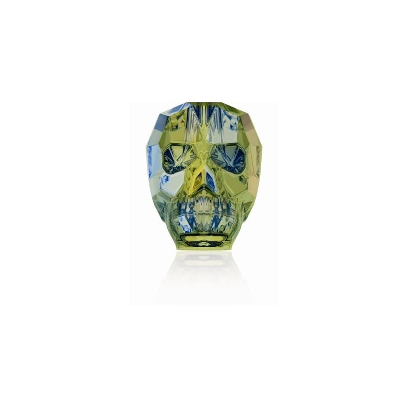 13MM Crystal Iridescent Green 5750 череп Бусины SWAROVSKI ELEMENTS