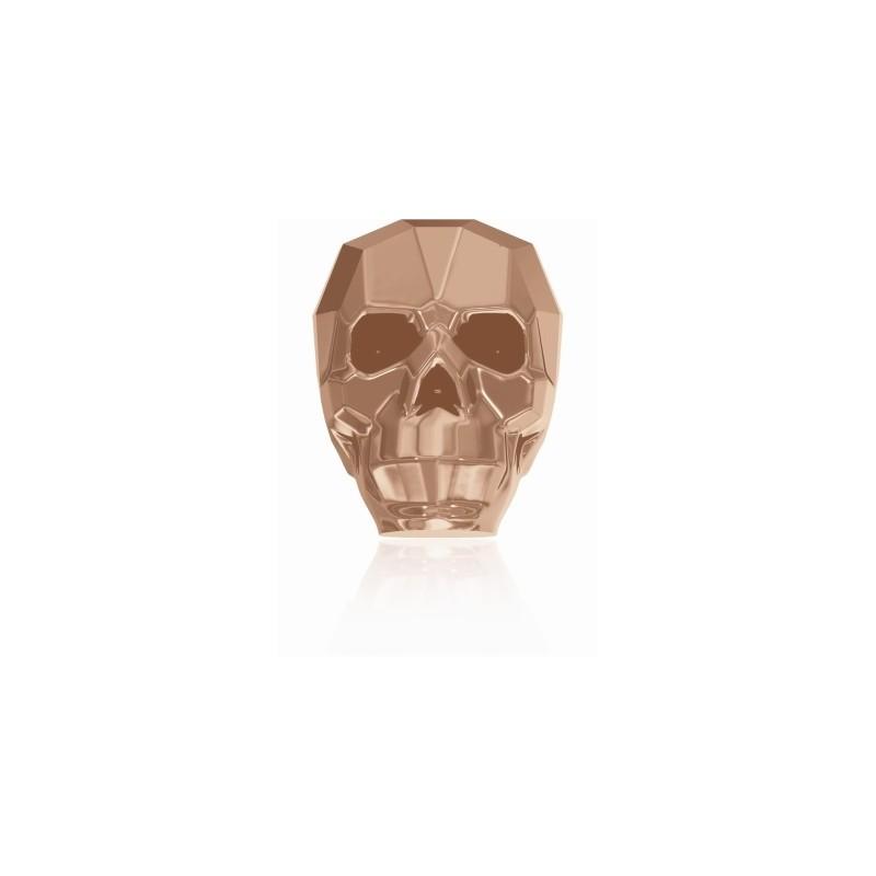 13MM Crystal Rose Gold 2x 5750 Skull Beads SWAROVSKI ELEMENTS