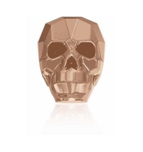 19MM Crystal Rose Gold 2x 5750 Skull Beads SWAROVSKI ELEMENTS