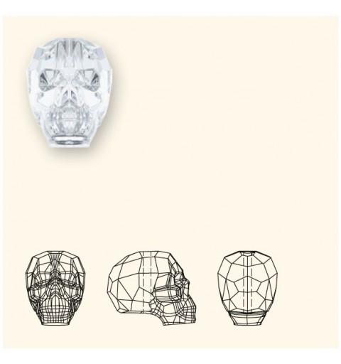 13MM Crystal Metallic Blue 2x 5750 Skull Helmed SWAROVSKI ELEMENTS