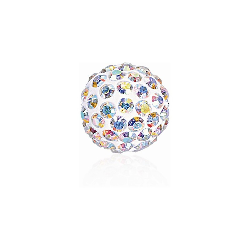8MM Crystal AB (001 AB) Pavé Ball Helmed SWAROVSKI ELEMENTS