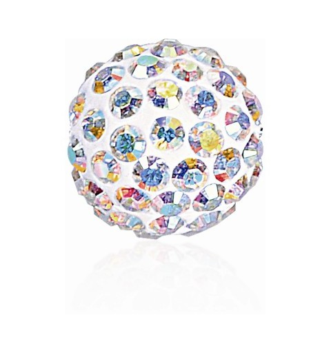 8MM Crystal AB (001 AB) Pavé Ball Helmed SWAROVSKI ELEMENTS