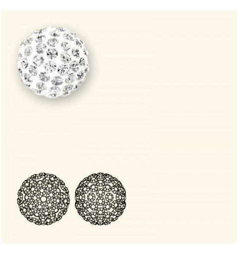 8MM Crystal AB (001 AB) Pavé Ball Beads SWAROVSKI ELEMENTS
