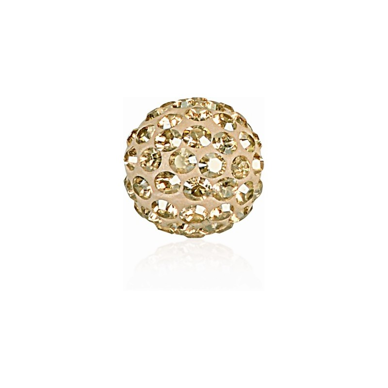 8MM Crystal Golden Shadow (001 GSHA) Pavé Ball Helmed SWAROVSKI ELEMENTS