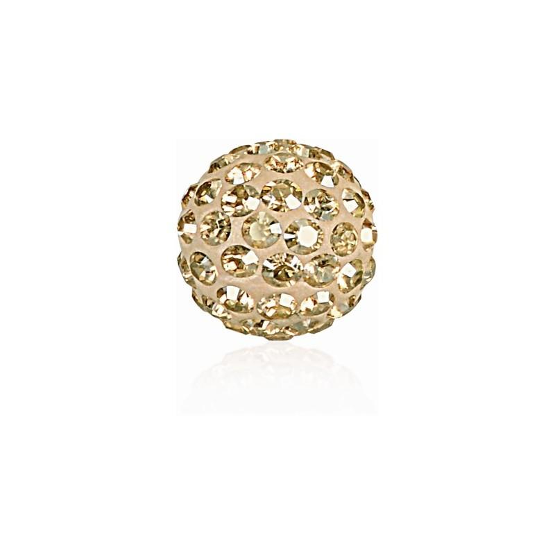 8MM Crystal Golden Shadow (001 GSHA) Pavé Ball Helmed SWAROVSKI ELEMENTS