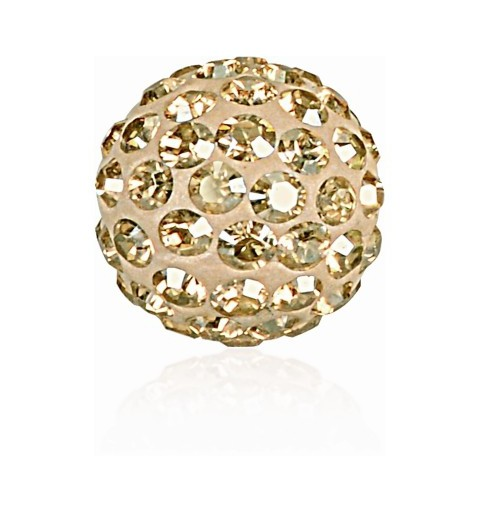 8MM Crystal Golden Shadow (001 GSHA) Pavé Ball Beads SWAROVSKI ELEMENTS