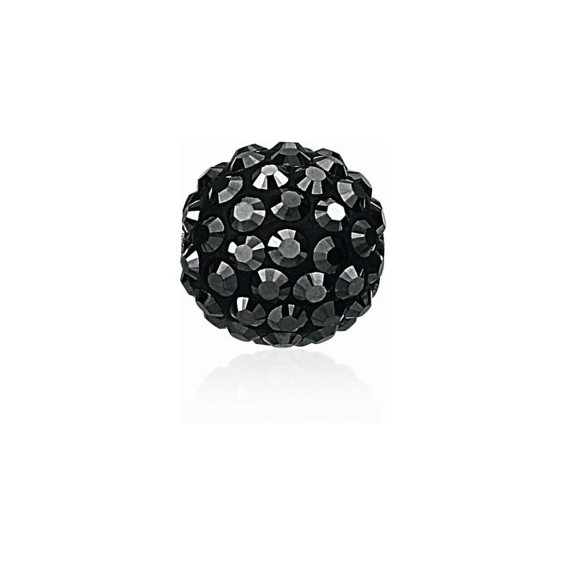 8MM Чёрный Hematite (280 HEM) Pavé Ball Бусины SWAROVSKI ELEMENTS