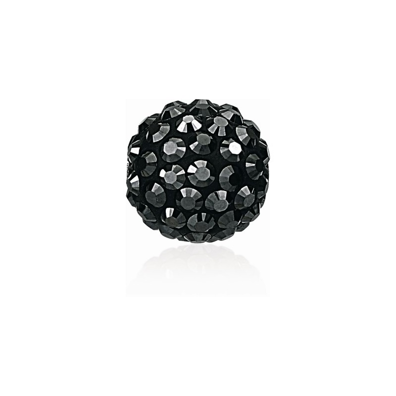 8MM Jet Hematite (280 HEM) Pavé Ball Beads SWAROVSKI ELEMENTS