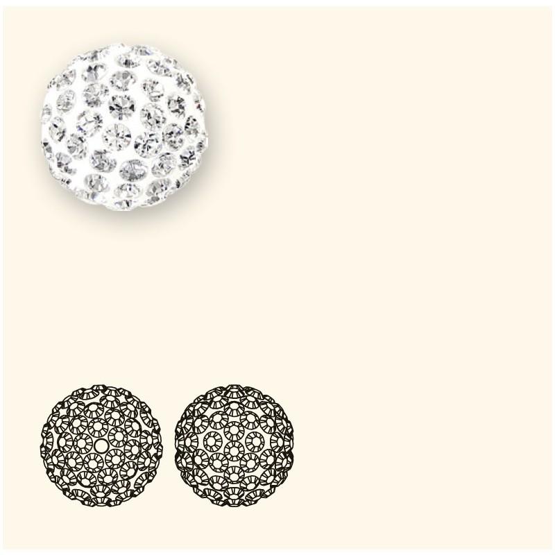 8MM Jet Hematite (280 HEM) Pavé Ball Beads SWAROVSKI ELEMENTS