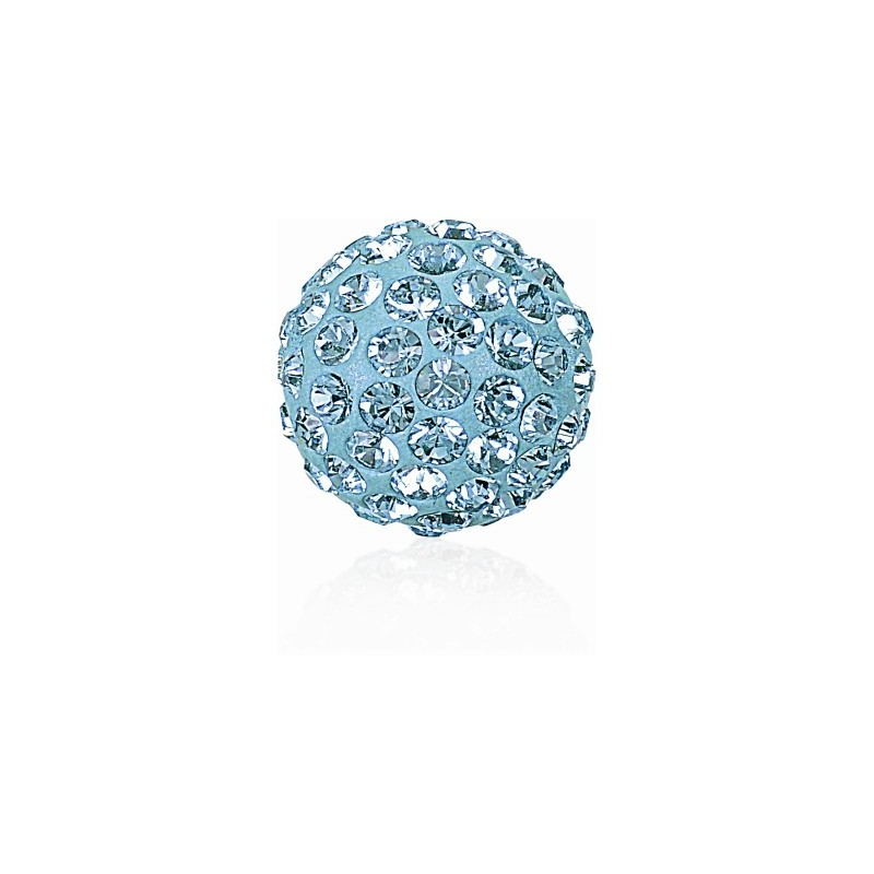 8MM Aquamarine (202) Pavé Ball Beads SWAROVSKI ELEMENTS