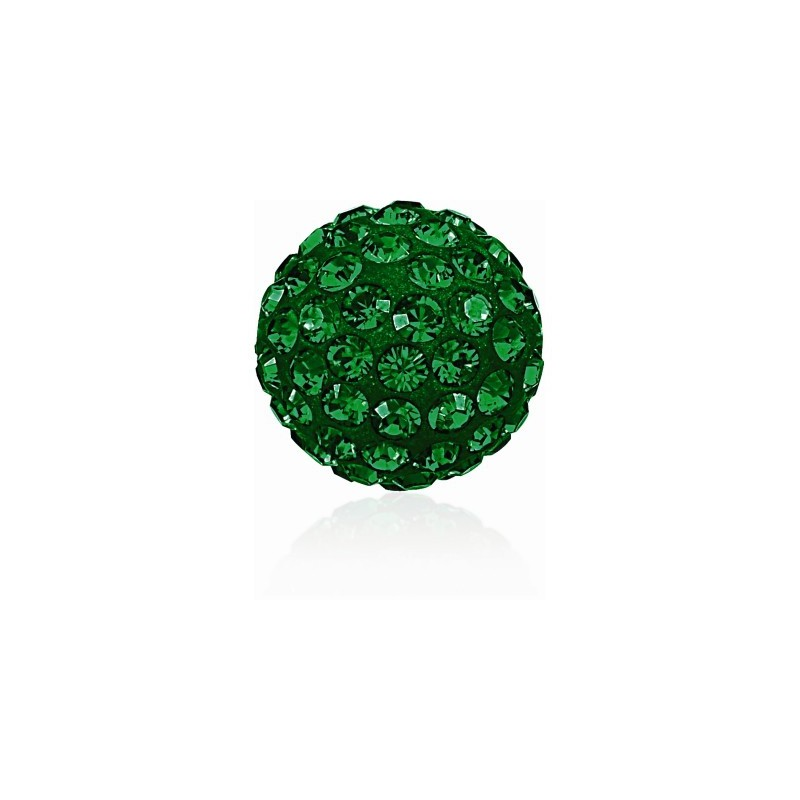 8MM Emerald (205) Pavé Ball Helmed SWAROVSKI ELEMENTS