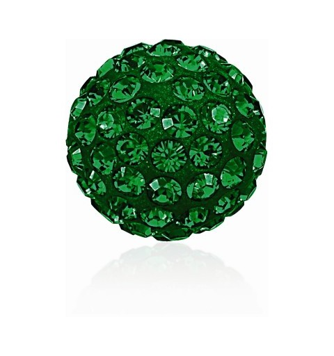 8MM Emerald (205) Pavé Ball Beads SWAROVSKI ELEMENTS