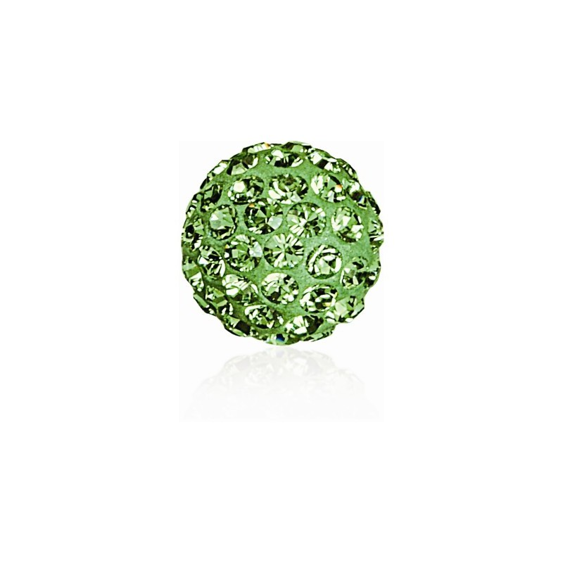8MM Peridot (214) Pavé Ball Beads SWAROVSKI ELEMENTS