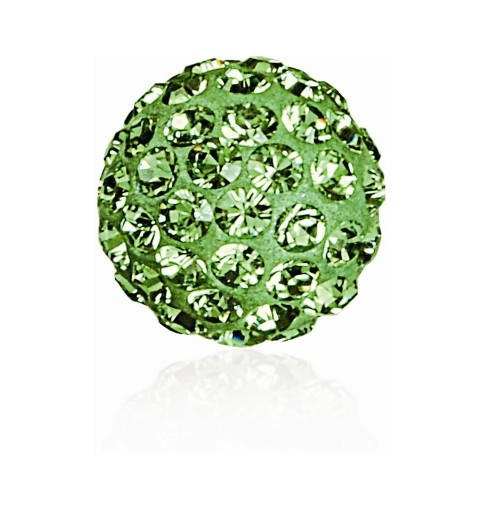 8MM Peridot (214) Pavé Ball Helmed SWAROVSKI ELEMENTS