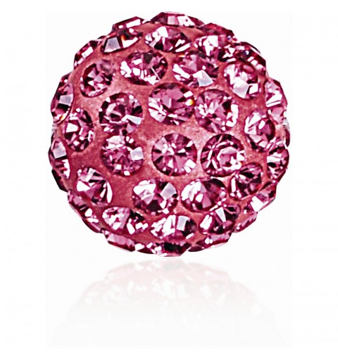 8MM Rose (209) Pavé Ball Beads SWAROVSKI ELEMENTS