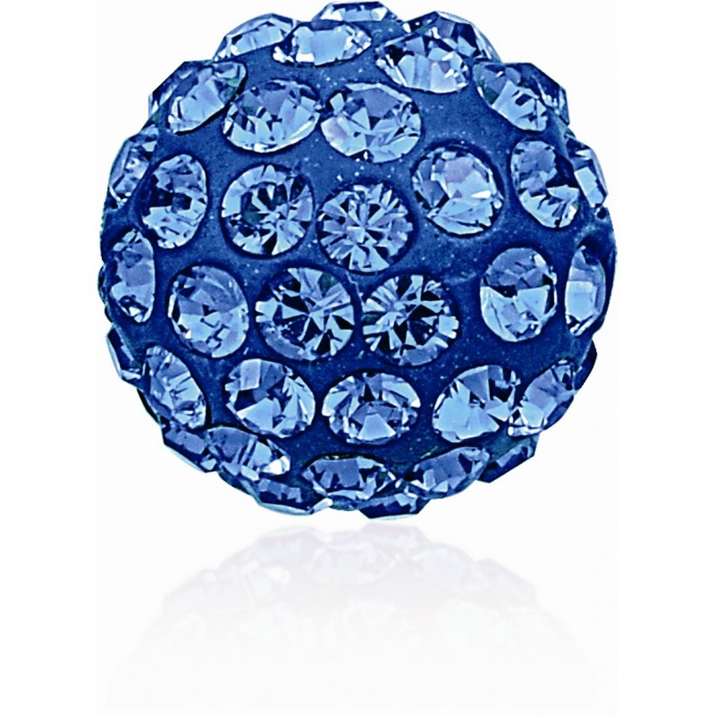 8MM Sapphire (206) Pavé Ball Beads SWAROVSKI ELEMENTS
