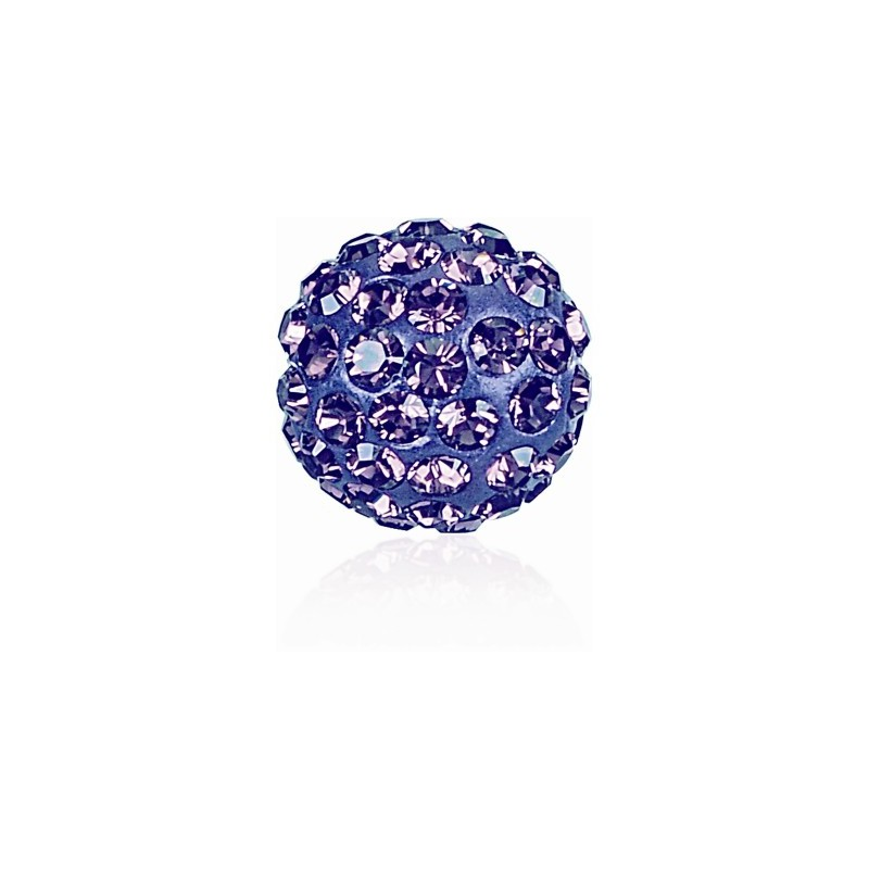 8MM Tanzanite (539) Pavé Ball Helmed SWAROVSKI ELEMENTS