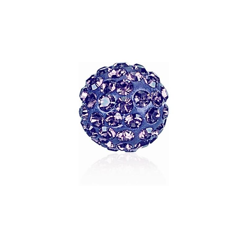 8MM Tanzanite (539) Pavé Ball Helmed SWAROVSKI ELEMENTS