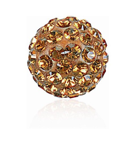 8MM Topaz (203) Pavé Ball Beads SWAROVSKI ELEMENTS