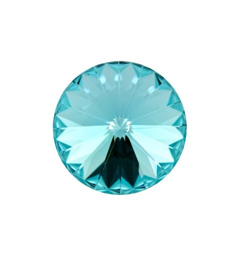 12MM Light Turquoise F (263) 1122 Rivoli Chaton SWAROVSKI ELEMENTS