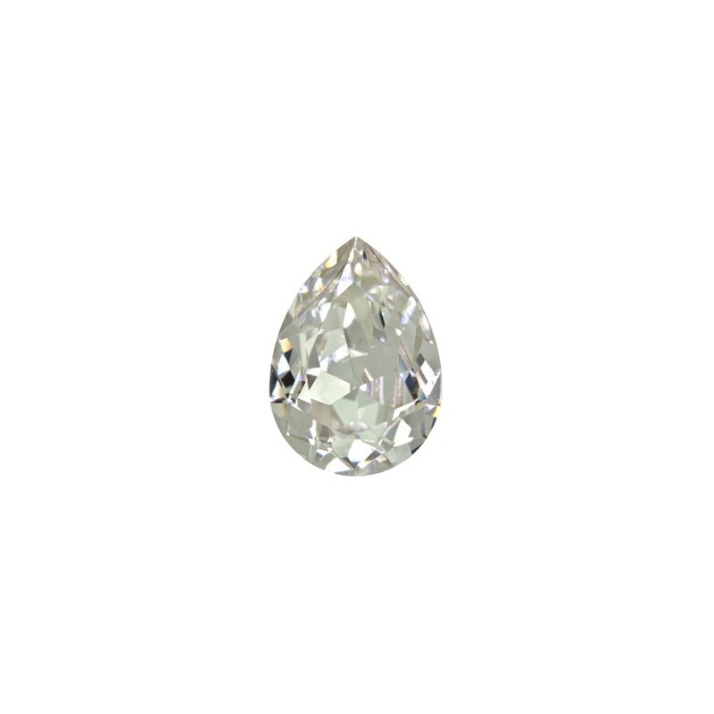 18x13mm Crystal F (001) Pear-Shaped Fancy Stone 4320 Swarovski Elements